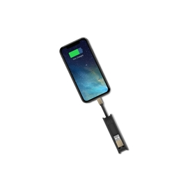 FUSION Mini LIGHTNING  - MFI Pocket power bank Capacity 3000 including two built-in cables and metallic connectors