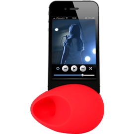 Case Egg Sound amplifier for Apple iPhone 5/5s/5C/SE, Red