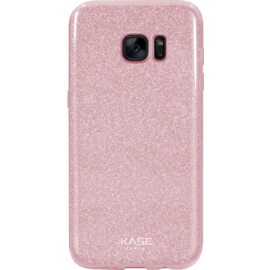 Case Sparkly Glitter Slim Case for Samsung Galaxy S7 Edge, Rose Gold