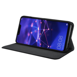 Folio Flip case with card slot & stand for Huawei Mate 20 Lite, Black