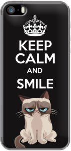 Case KEEP CALM AND SMILE (GRUPY CAT) by kskapoue