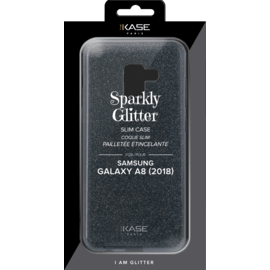 Sparkly Glitter Slim Case for Samsung Galaxy A8 (2018), Black