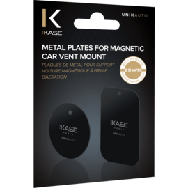 Metal Plates for Magnetic Car Vent Mount (2 shapes)