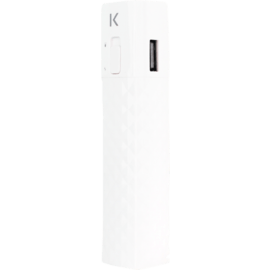 Lipstick Power Bank 2600 mAh, White