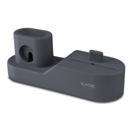 Dock di ricarica in silicone 3-in-1 per Apple iPhone, Apple Watch e AirPods, Space Grey
