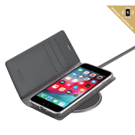 Diarycase 2.0 Genuine Leather flip case with magnetic stand for Apple iPhone 6/6s/7/8 Plus, Midnight Black