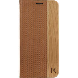 Case Flip case for Samsung Galaxy S7, Brown & Natural Cherry Wood