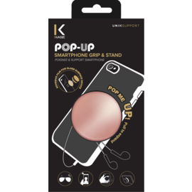 POP-UP Smartphone Grip & Stand, Rose Gold Chrome