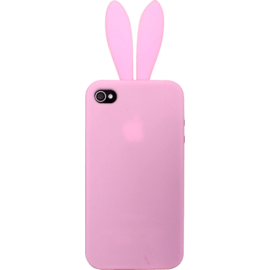 Case Case for Apple iPhone 4/4S, Pink Rabbit silicone