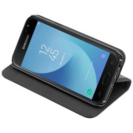 2-in-1 GEN 2.0 Magnetic Slim Wallet & Case for Samsung Galaxy J3 (2017), Black (EU/Asia ver. - J330FDS & J330GDS)