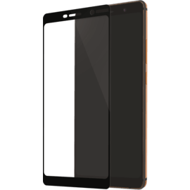 Full Coverage Tempered Glass Screen Protector for Nokia 7 Plus, Black