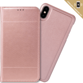 2-in-1 GEN 2.0 Magnetic Slim Wallet & Case for Apple iPhone XS Max, Rose gold