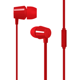 Case K Ecouteurs intra-auriculaires, Rouge Ardent