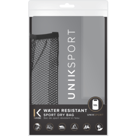Water resistant Sport Dry Bag  (10L), Charcoal Grey