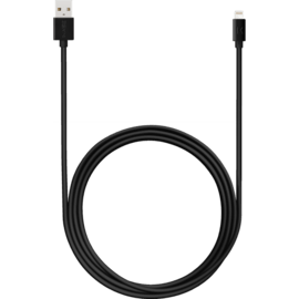 Apple MFi certified Lightning Charge/Sync Cable (2M), Cool Black