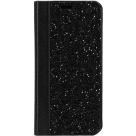 Rhinestone Bling Wallet Case for Apple iPhone X/XS, Midnight Black
