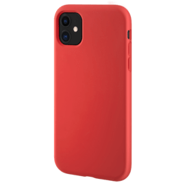 (D) Coque antichoc en gel de silicone doux pour Apple  iPhone 11, Rouge Ardent