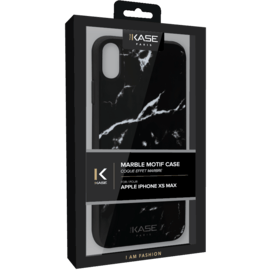 Marble Motif Case for Apple iPhone XS MAX, Marquina Black