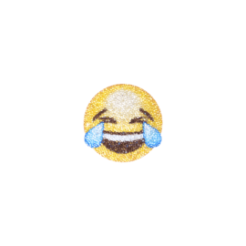Swarovski® Emoji Crystal Sticker, Laugh Out Loud LOL