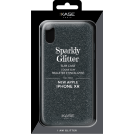 Sparkly Glitter Slim Case for Apple iPhone XR, Black