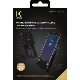 Magnetic Universal Qi Wireless Charging Stand (Quick Charge 10W), Black