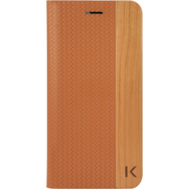 Case Coque Clapet pour Apple iPhone 7 Plus/8 Plus, Marron & Bois De Cerisier Naturel