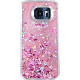 Case Bling Bling Glitter Case for Samsung Galaxy S7 Edge, Pink Lady