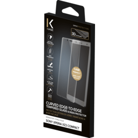 Curved Edge-to-Edge Tempered Glass Screen Protector for Sony Xperia XZ2 Compact, Transparent