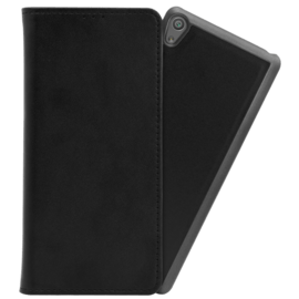 2-in-1 Magnetic Slim Wallet & Case for Sony Xperia XA, Black