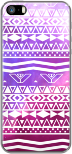 Case White Aztec Pattern Purple Nebula Space by Girly Trend