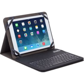 Case AZERTY Universal bluetooth keyboard with flipcase, 9-10 inch, Black