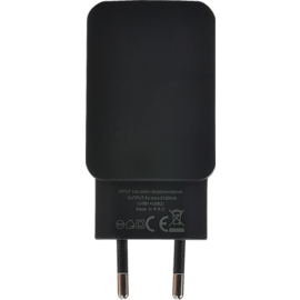 Universal Dual USB Charger (EU) 3.1A, Cool Black