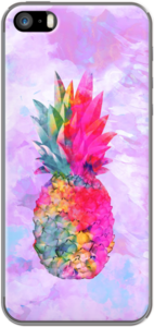 Case Bright Neon Exotic Hawaiian Pineapple Tropical Watercolor by Girly Trend