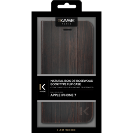 Flip case for Apple iPhone 7/8, Natural Bois de Rosewood
