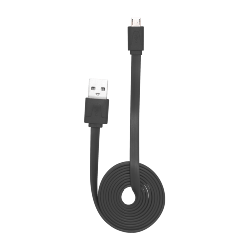 Case Flat cable to Micro USB (1m) for Android, Black