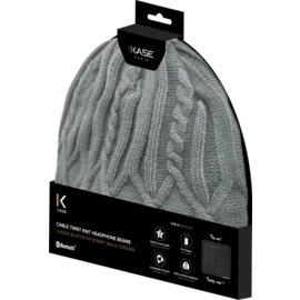 Cable Twist Knit Headphone Beanie