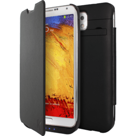 Case Protective Power Flip Case 3000mAh for Samsung Galaxy Note 3, Black