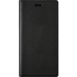 Diarycase Genuine Leather flip case with magnetic stand for Samsung Galaxy S8, Lizard Black