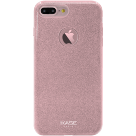 Case Coque slim pailletée étincelante pour Apple iPhone 7 Plus, Or Rose