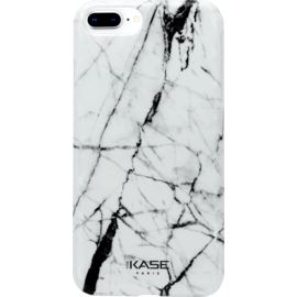 Case Marble Motif Silicone Case for Apple iPhone 6Plus/6s Plus/7 Plus/8 Plus, Bianco white