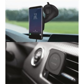 Magnetic Universal Quick Qi Wireless Charging Car Kit (Quick Charge 10W), Black