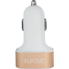 Case 5.1A Trio car charger for Smartphone and Tablet, Gold