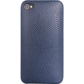Case Clip Case for Apple iPhone 4/4S, Genuine Lizard pattern Blue calf leather