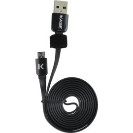 Flat cable to Micro USB (1m) for Android, Cool Black