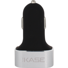 Case 5.1A Trio car charger for Smartphone and Tablet, Silver