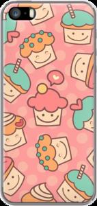 Case Cute Cupcake Pattern On Pink by Madotta
