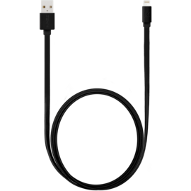 Speed 2.4A Apple MFi certified lightning charge/ sync cable (1M), Cool Black