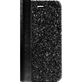Coque Clapet Bling Strass pour Apple iPhone 6/6s/7/8, Minuit Noir