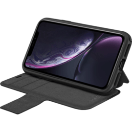 Fitness Robust Wallet Case for Apple iPhone XR, Black