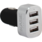 7.2A Trio car charger for Smartphone and Tablet, Silver